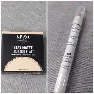 NYX Powder Foundation & Jumbo Eye Pencil